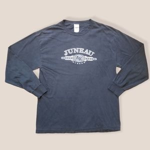 Alstyle Juneau Alaska black 2000s long sleeve, Lrg